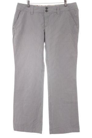 Esprit Chinohose weiß-grau Streifenmuster Business-Look