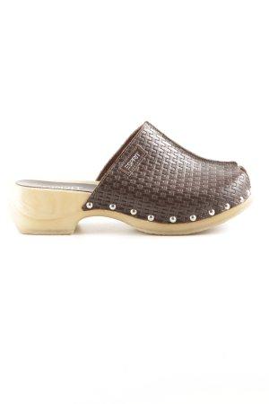 Esprit Clog Sandalen braun-creme Casual-Look