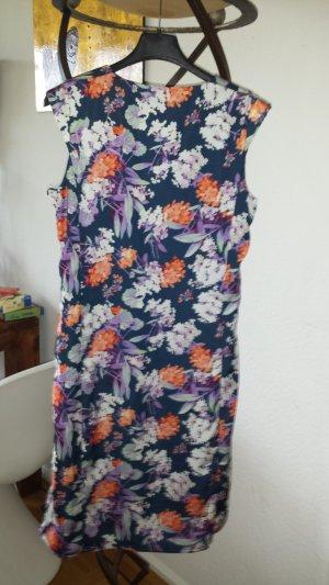ESPRIT Cocktail Kleid allover Blumen dunkelblau Gr.36 *neu*