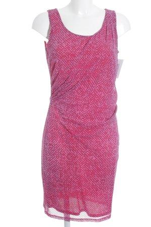 Esprit Cocktailkleid magenta-rosa abstrakter Druck Street-Fashion-Look