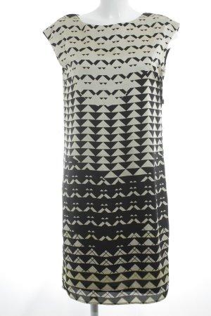 Esprit Cocktailkleid schwarz-creme abstraktes Muster Elegant