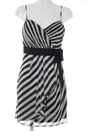 Esprit Robe de cocktail noir-blanc motif rayé élégant