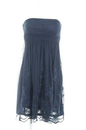 esprit collection Abendkleid dunkelblau florales Muster Elegant