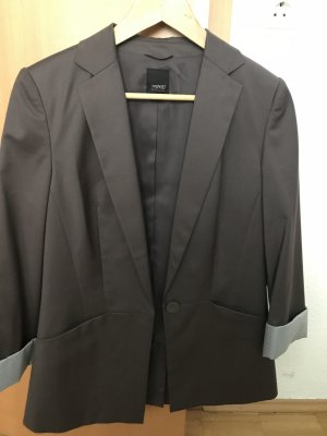 esprit collection Boyfriend blazer grijs-bruin