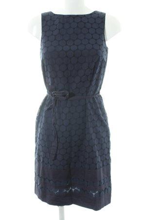 esprit collection Bleistiftkleid dunkelblau-schwarz Punktemuster Casual-Look