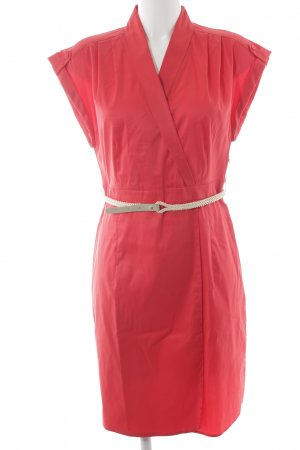 esprit collection Vestido camisero rojo-crema elegante