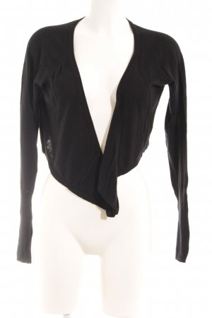 esprit collection Bolero schwarz Lochstrickmuster Casual-Look