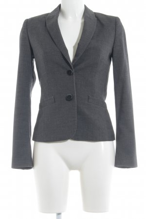esprit collection Boyfriend-Blazer grau-hellgrau meliert Business-Look