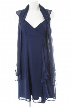 esprit collection Chiffonkleid dunkelblau Party-Look