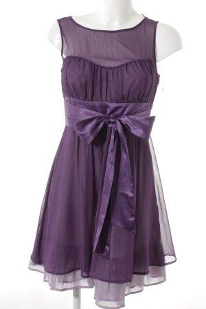 esprit collection Robe chiffon violet-mauve élégant