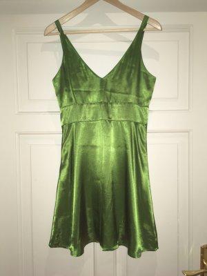Esprit collection Cocktailkleid aus Satin XS/S 36 in schimmerndem grün