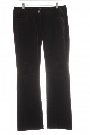 esprit collection Pantalone di velluto a coste nero stile casual