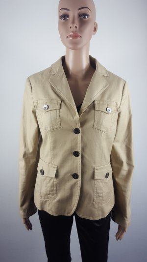Esprit Collection Damen  Jersey Blazer Jacket Anzugjacke beige Größe 38