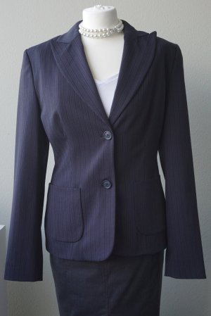 Esprit Collection, Dunkelblau/Anthrazit-farbener Nadelstreifen Blazer (40)