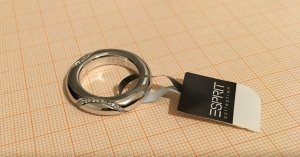 esprit collection Zilveren ring lichtgrijs-wit Zilver