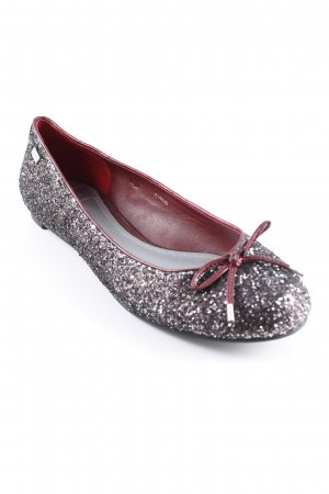 esprit collection Foldable Ballet Flats silver-colored-magenta glittery