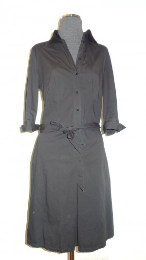 Esprit Collection Hemdblusen-Kleid schwarz, Gr. 36