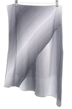 esprit collection Jupe taille haute noir-blanc motif rayé style décontracté