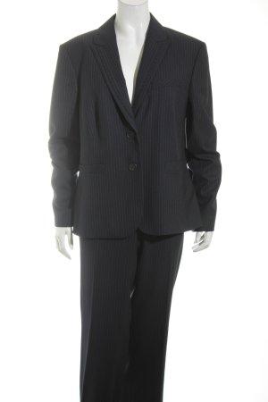 esprit collection Trouser Suit dark blue-grey pinstripe