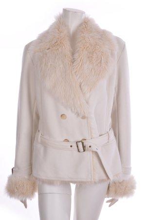 Esprit Collection Jacke Kunstfell Fake Fur waschbar creme 42 fälllt aus wie 40