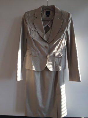 esprit collection Business Suit oatmeal cotton