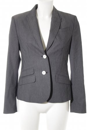 esprit collection Kurz-Blazer grau-hellgrau Streifenmuster Business-Look