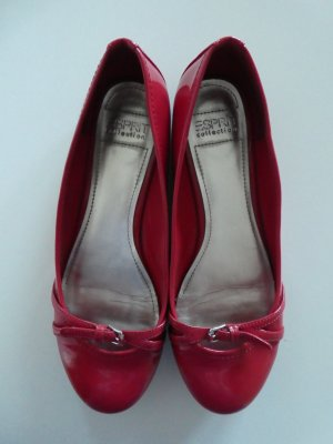 Esprit Collection – Lack-Ballerina, rot - Gebraucht