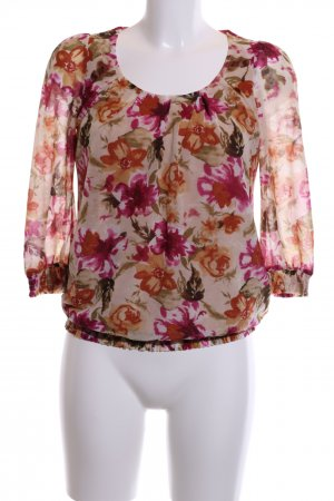esprit collection Langarm-Bluse Allover-Druck Business-Look
