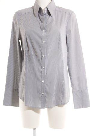 esprit collection Langarmhemd weiß-graublau Streifenmuster