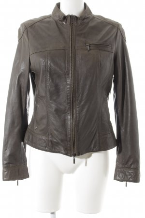 esprit collection Lederjacke graubraun Casual-Look