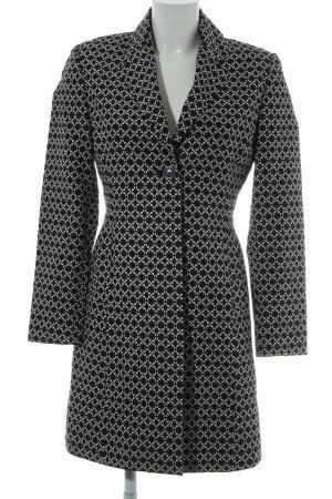 esprit collection Long-Blazer schwarz-weiß abstraktes Muster schlichter Stil