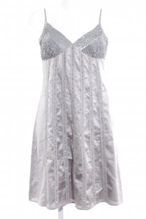 esprit collection Vestido de lentejuelas gris claro-gris estampado a rayas