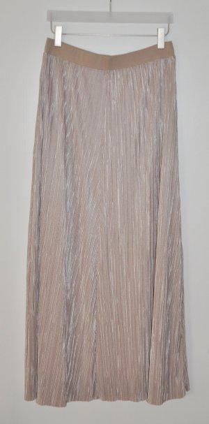 Esprit Collection Plissee Maxi Rock stone Gr. M UNGETRAGEN