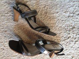 esprit collection Sandalo con cinturino marrone scuro-marrone-nero Finta pelle