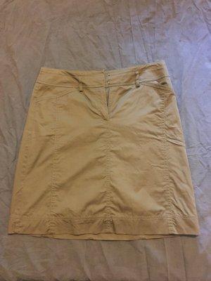 esprit collection Midi Skirt olive green cotton