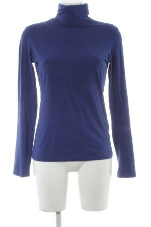 esprit collection Turtleneck Shirt dark blue Logo application (metal)