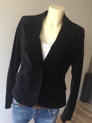 Esprit Collection Samt Blazer in Schwarz, Größe 40