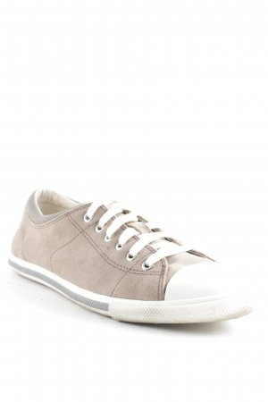 esprit collection Sneakers met veters lichtbruin-wolwit casual uitstraling