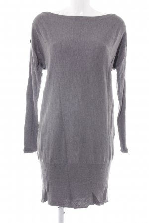 esprit collection schulterfreies Kleid grau Casual-Look