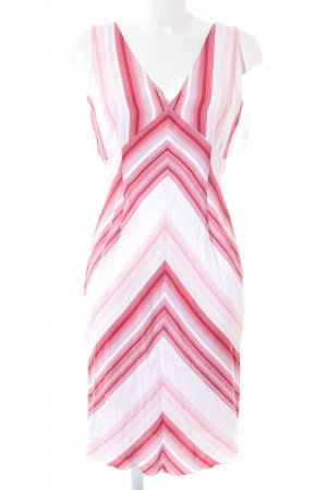 esprit collection schulterfreies Kleid Streifenmuster schlichter Stil