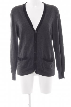 esprit collection Strick Cardigan dunkelgrau-schwarz meliert Casual-Look