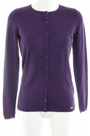 esprit collection Strick Cardigan dunkelviolett Casual-Look