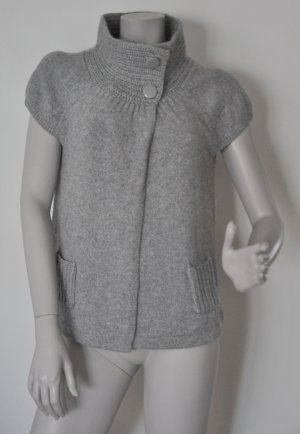 Esprit Collection Strickjacke 60ies-Look Kurzarm grau Gr. M WIE NEU