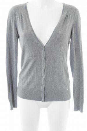 esprit collection Strickweste grau meliert Casual-Look