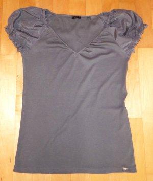 Esprit Collection T-Shirt Schlamm Khaki Seide XL 42-44 Neu