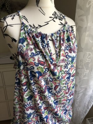 Esprit Collection Top Bluse Creme bunt Gr.S neuwertig