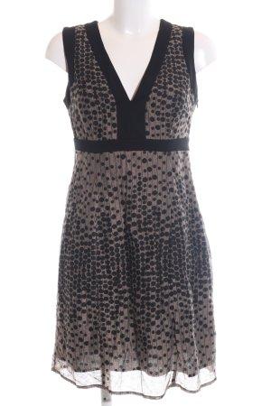 esprit collection Trägerkleid braun-schwarz Punktemuster Elegant