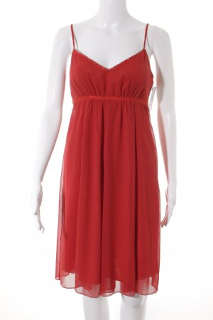 esprit collection Trägerkleid rot Romantik-Look