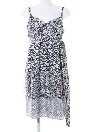 esprit collection Trägerkleid schwarz-weiß abstraktes Muster Casual-Look