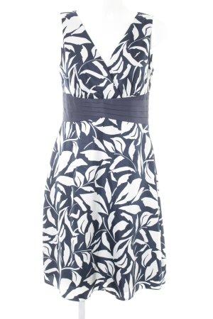 esprit collection Vestido cruzado blanco puro-azul oscuro estilo «business»